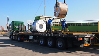 Loading steel coils
